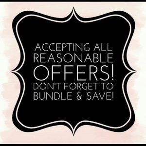 Offers always accepted. Bundle to discount!